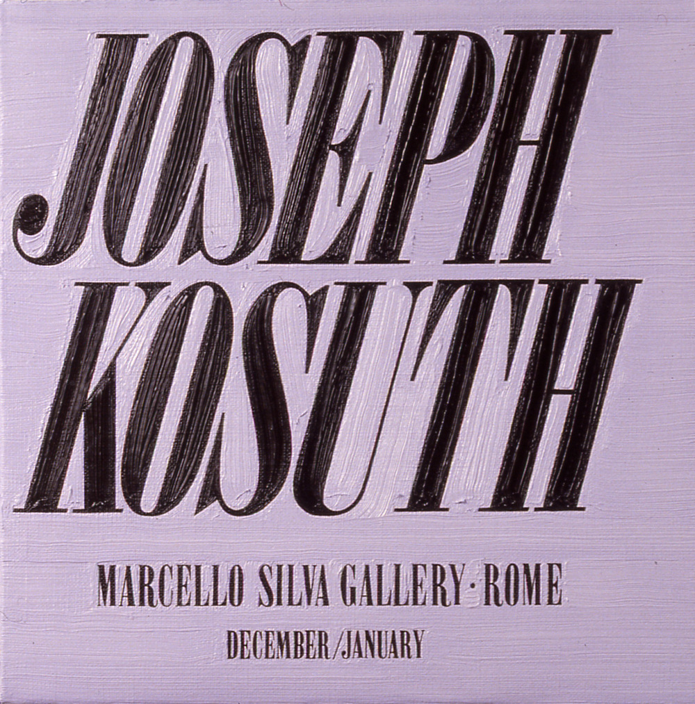 Joseph Kosuth at Marcello Silva
