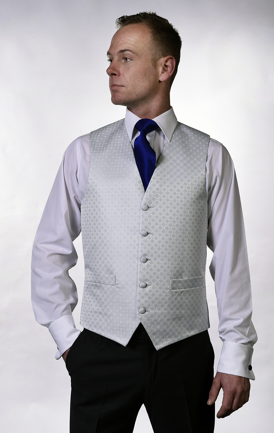 Image of man wearing waistcoat menswear wedding accessories
