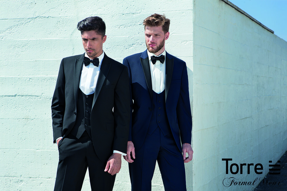 Black or Navy Slim-fit 3 Piece Dinner suit to buy from £399