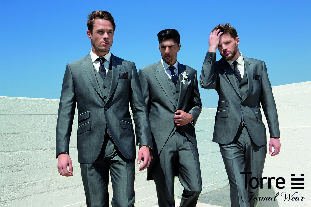 Silver Grey Tails or slimfit lounge suit. Hire package from £120. Hire package includes Jacket, Trousers, waistcoat, shirt, neckwear, handkerchief & accidental insurance. Available to purchase from £499