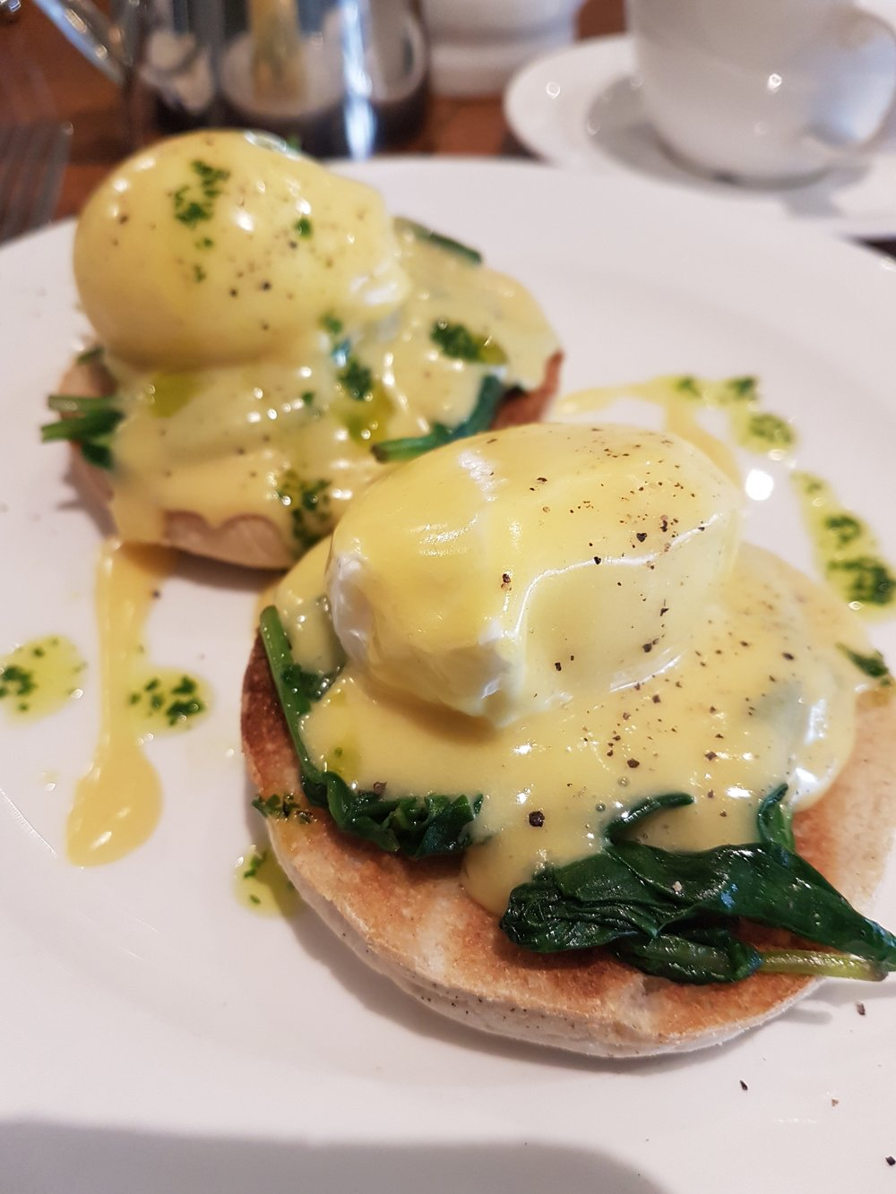 Delicious eggs florentine breakfast @ Brooks Guest House