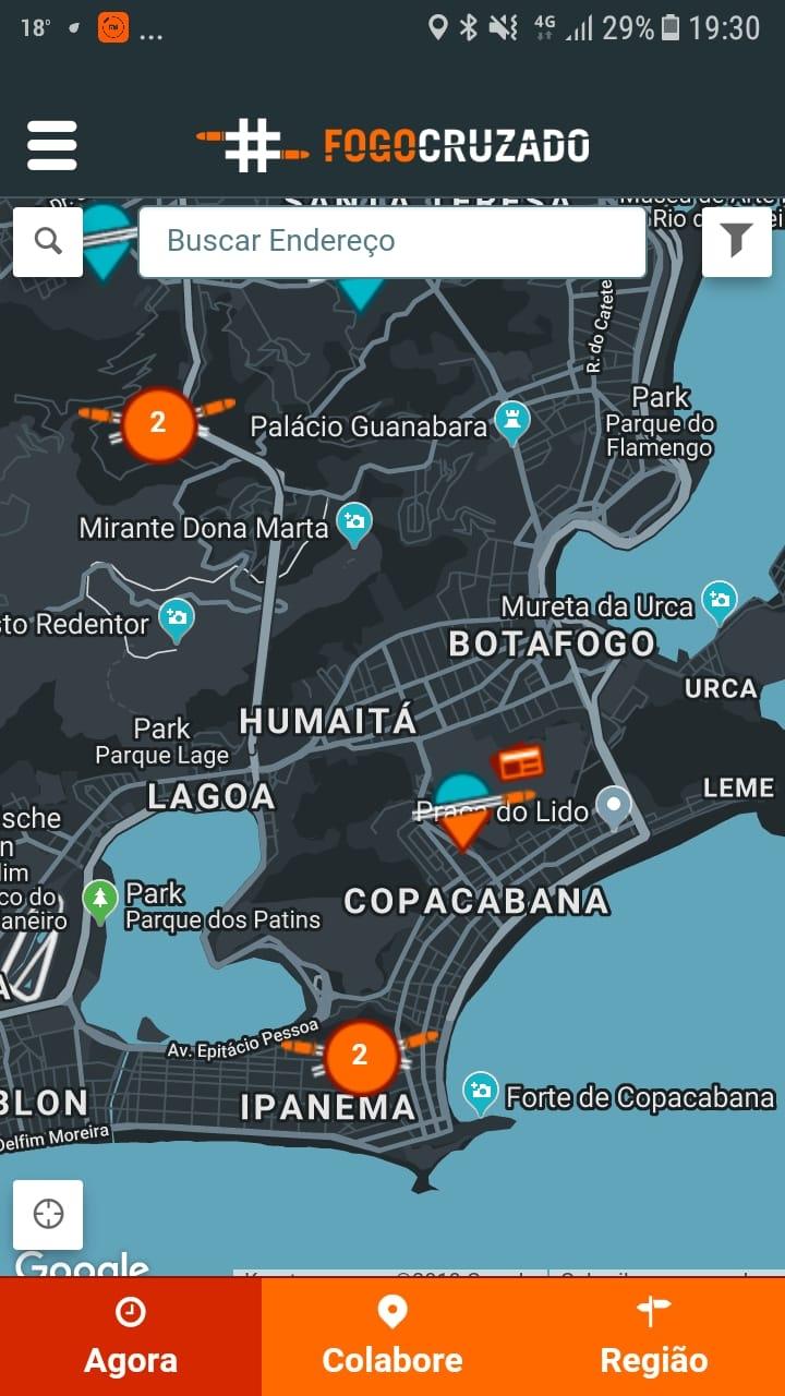 Shooting app for Rio de Janeiro