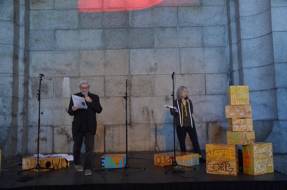 Poet Sculpture, DUMBO Arts Festival, Steve Dalachinsky, Yuko Otomo, Brooklyn, NY 2013.jpg