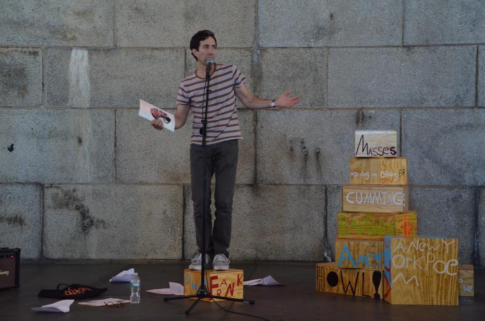 Poet Sculpture, DUMBO Arts Festival, Vincent Katz, NY 2013.jpg