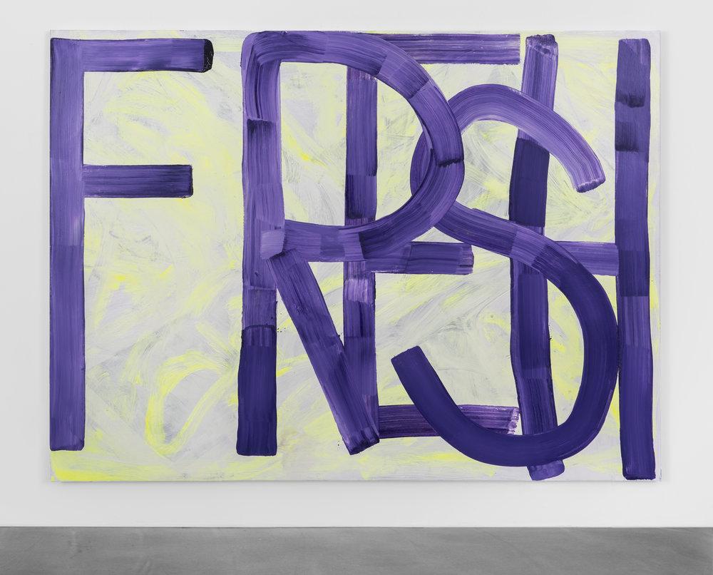 Fresh, 2017, Acrylic on canvas, 84 x 62 inches