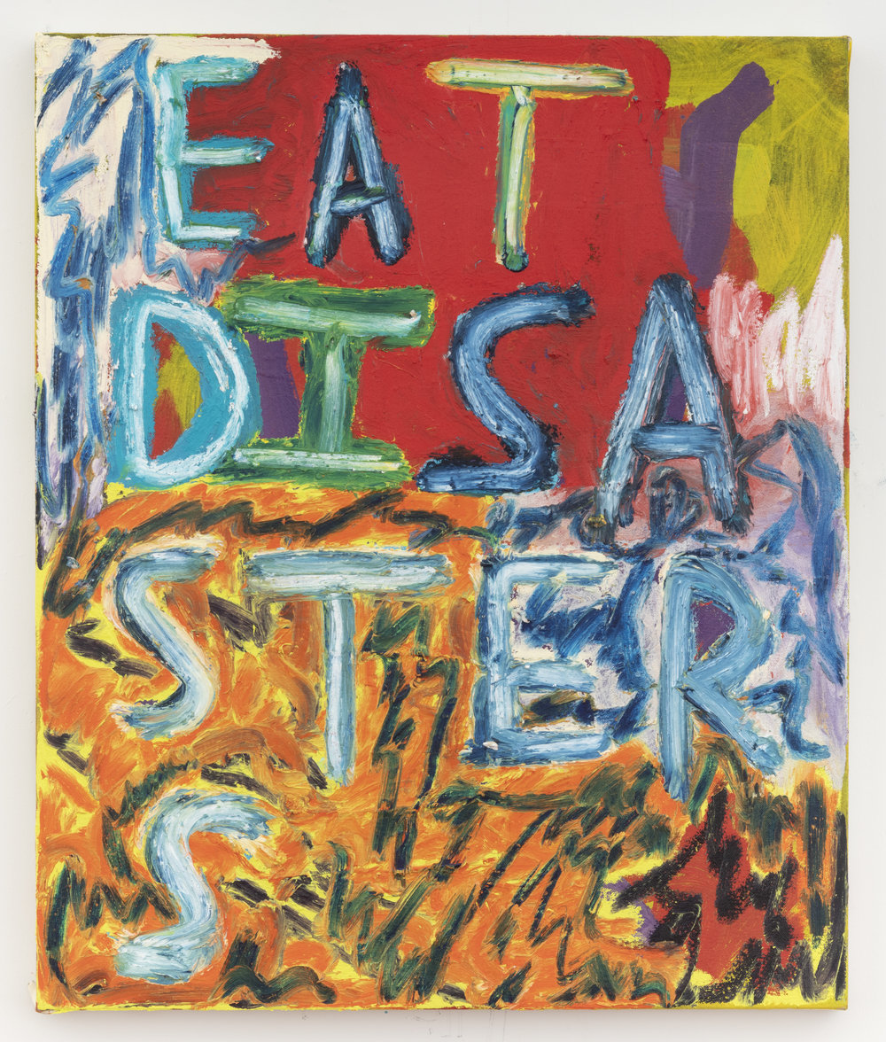 Eat Disasters, 2018 Oil and Acrylic on canvas 24 x 20 inches