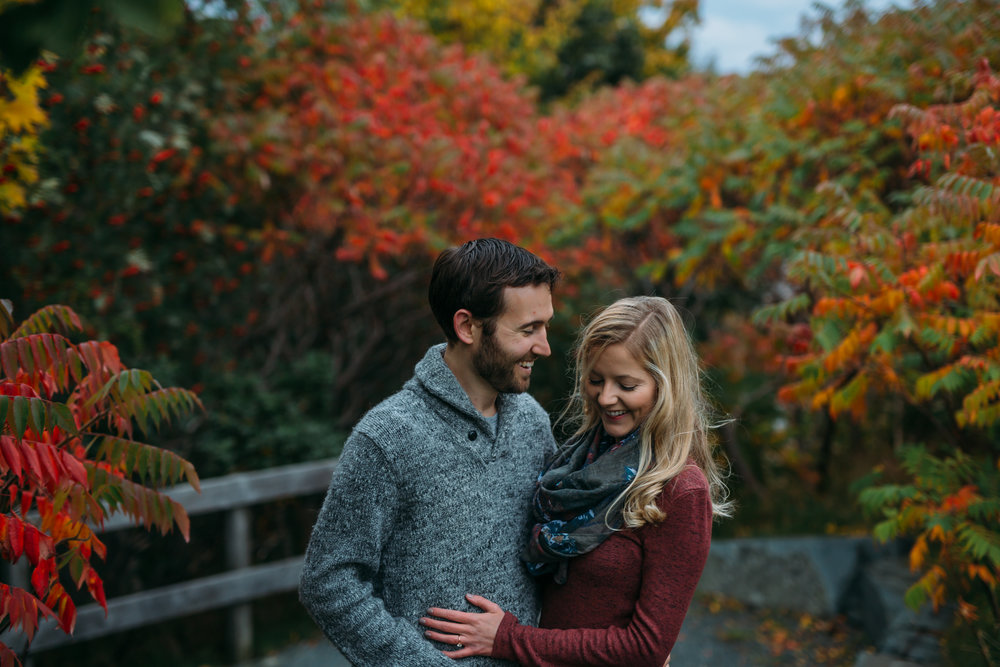 rennie's mill river fall engagement shoot