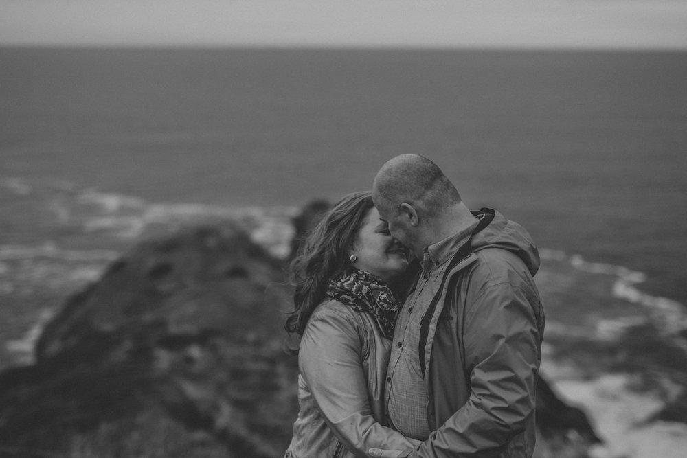 romantic cobbler path engagement session
