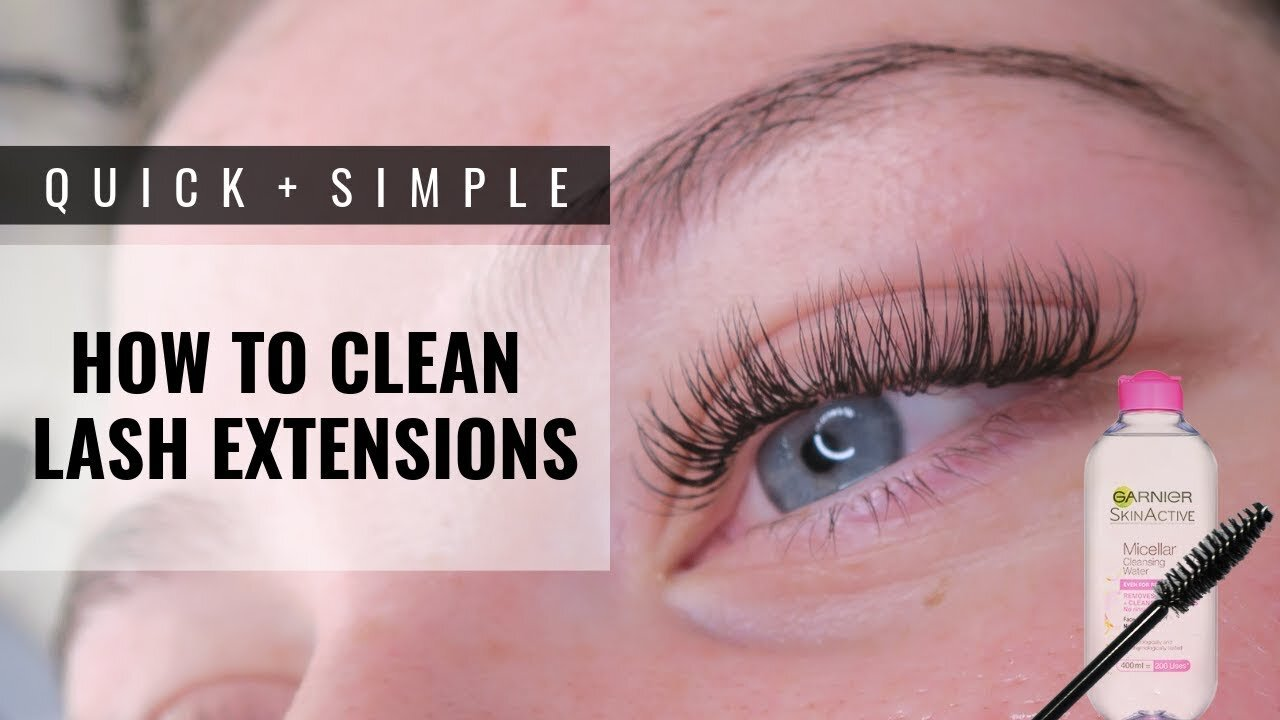 How To Clean Your Eyelash Extensions G A B R I E L L A