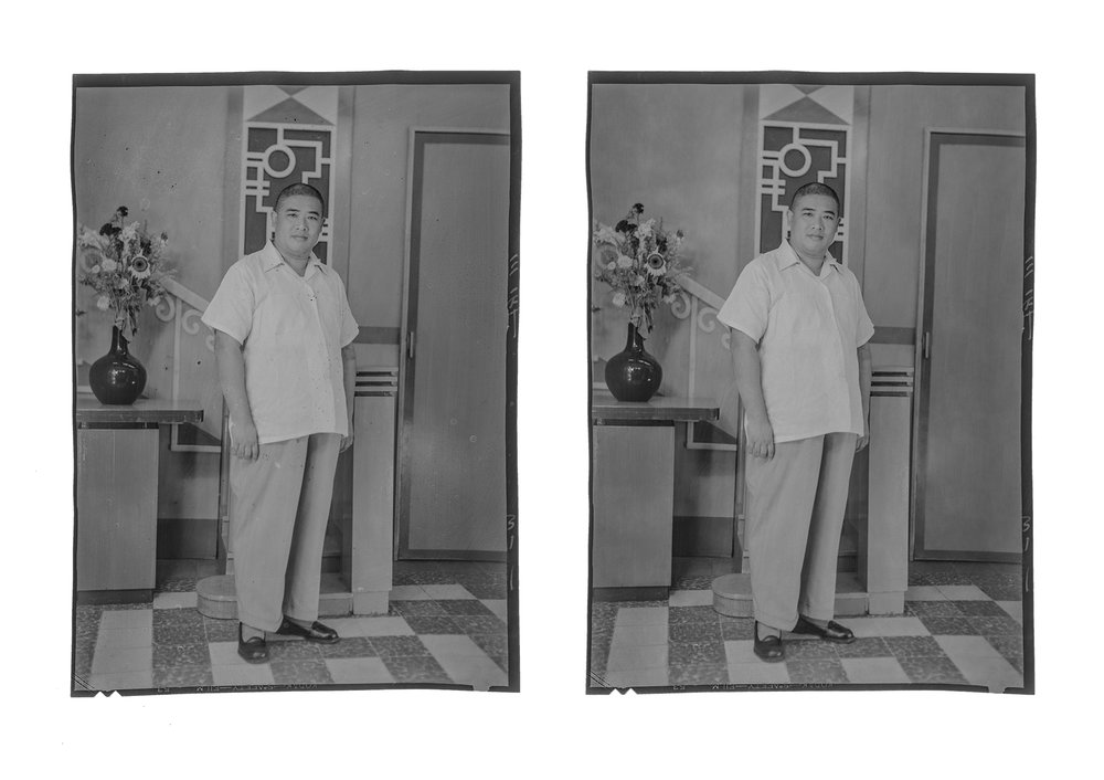 Before and After Digital Restoration