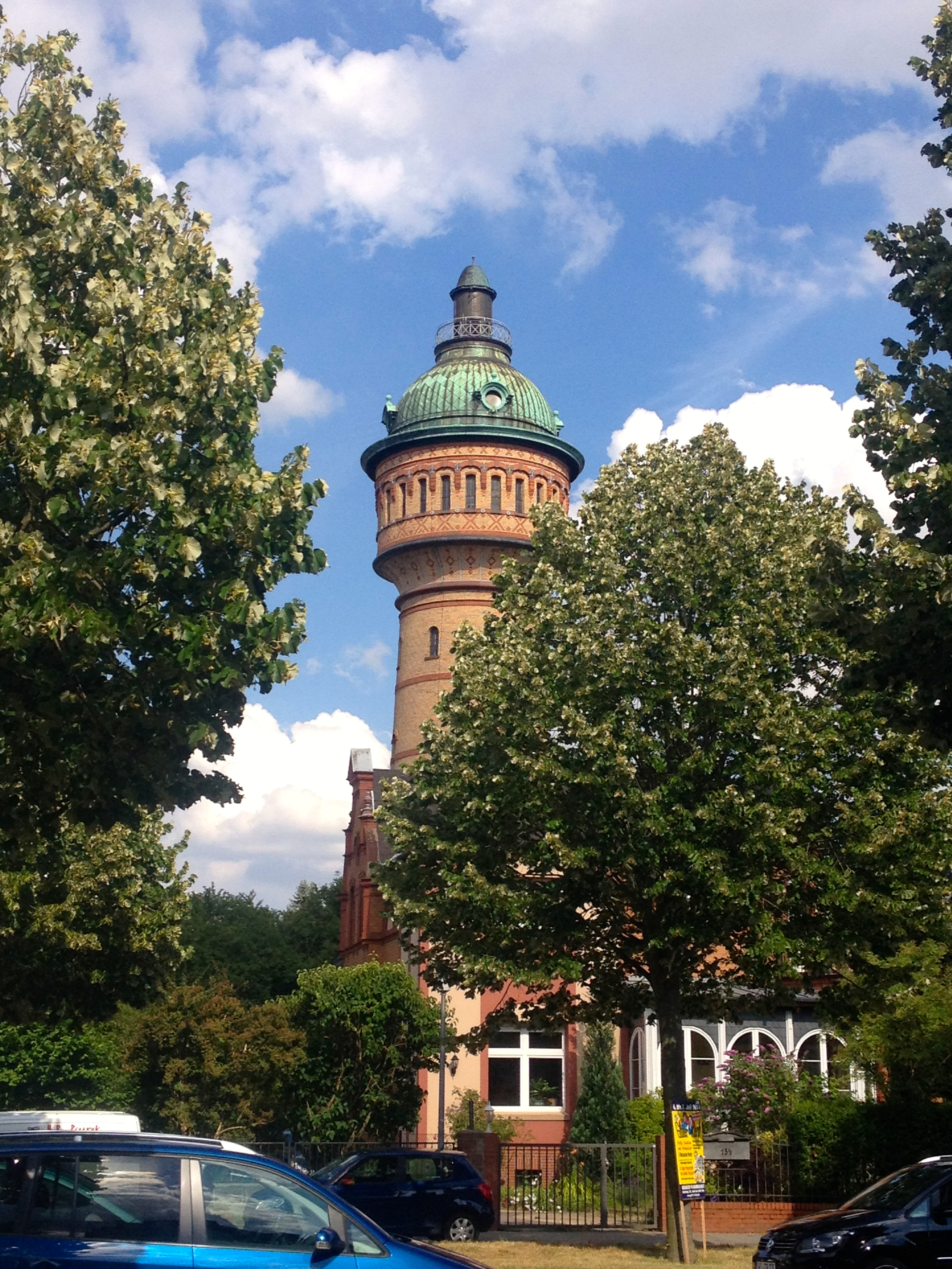 The old water tower across from my aunt's house
