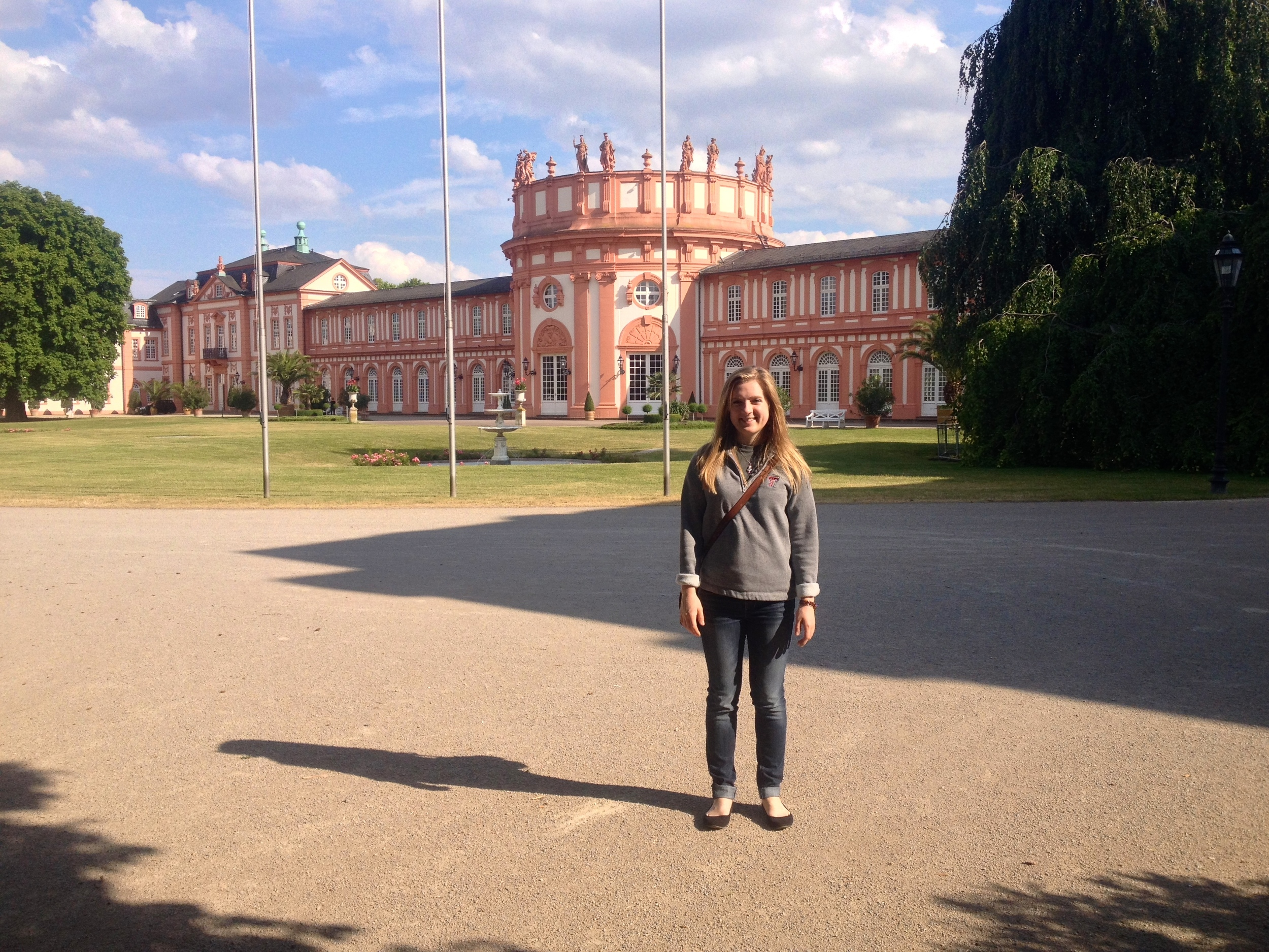 A beautiful Schloß and my travel-weary self