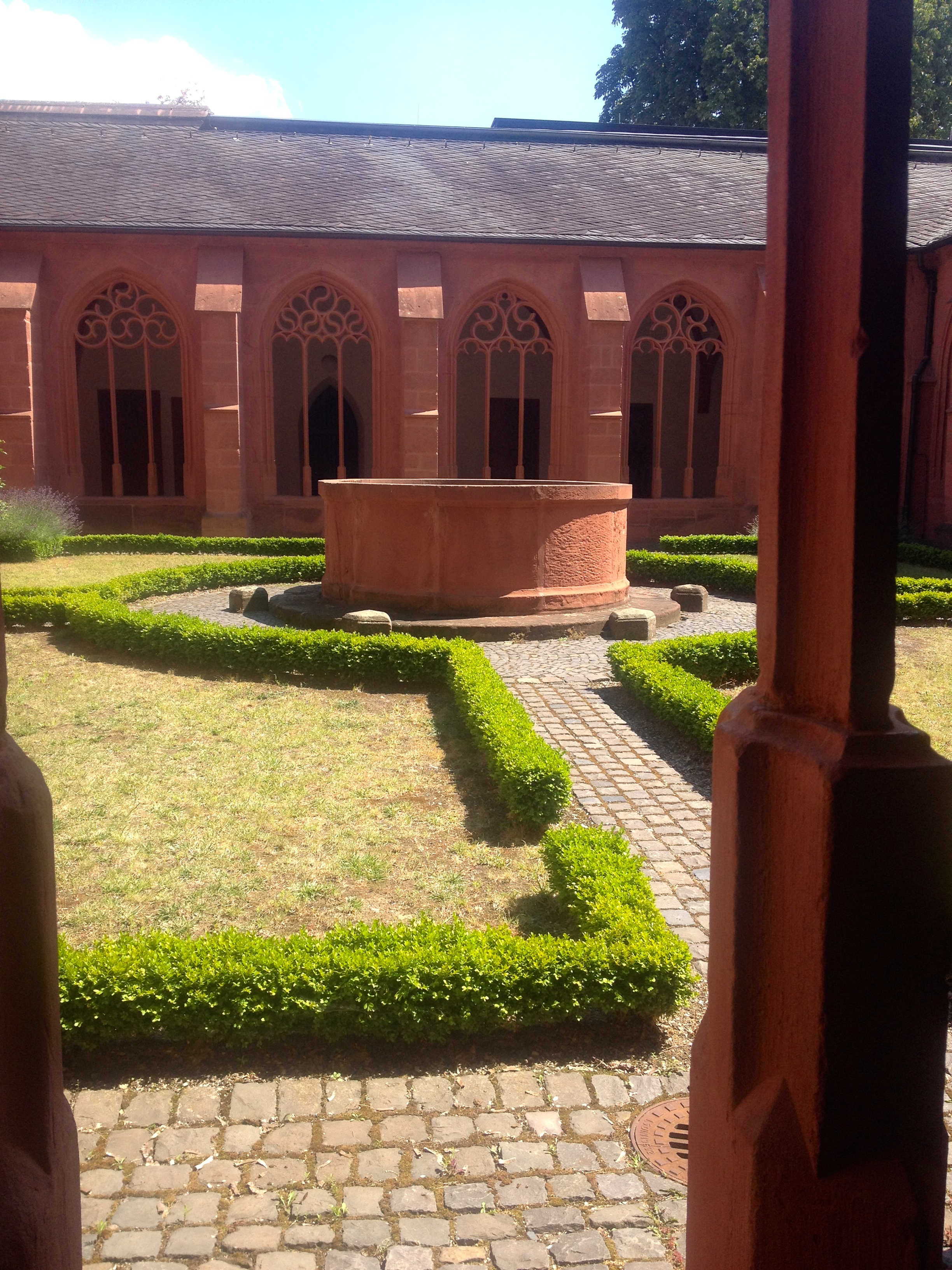 The cloisters of an old monastery behind St. Stephan's in Mainz