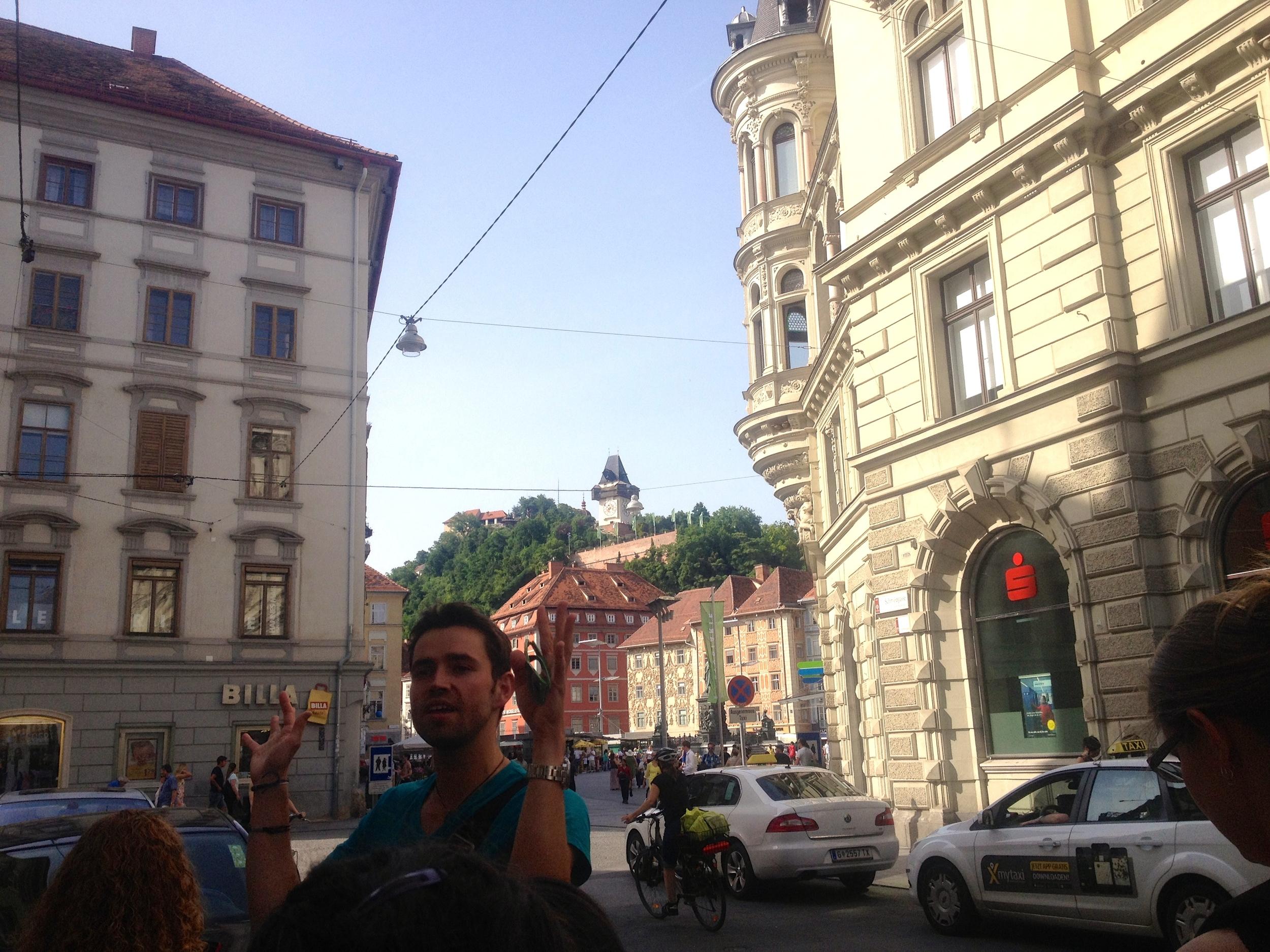 The Schloßberg: the old fortress of Graz.