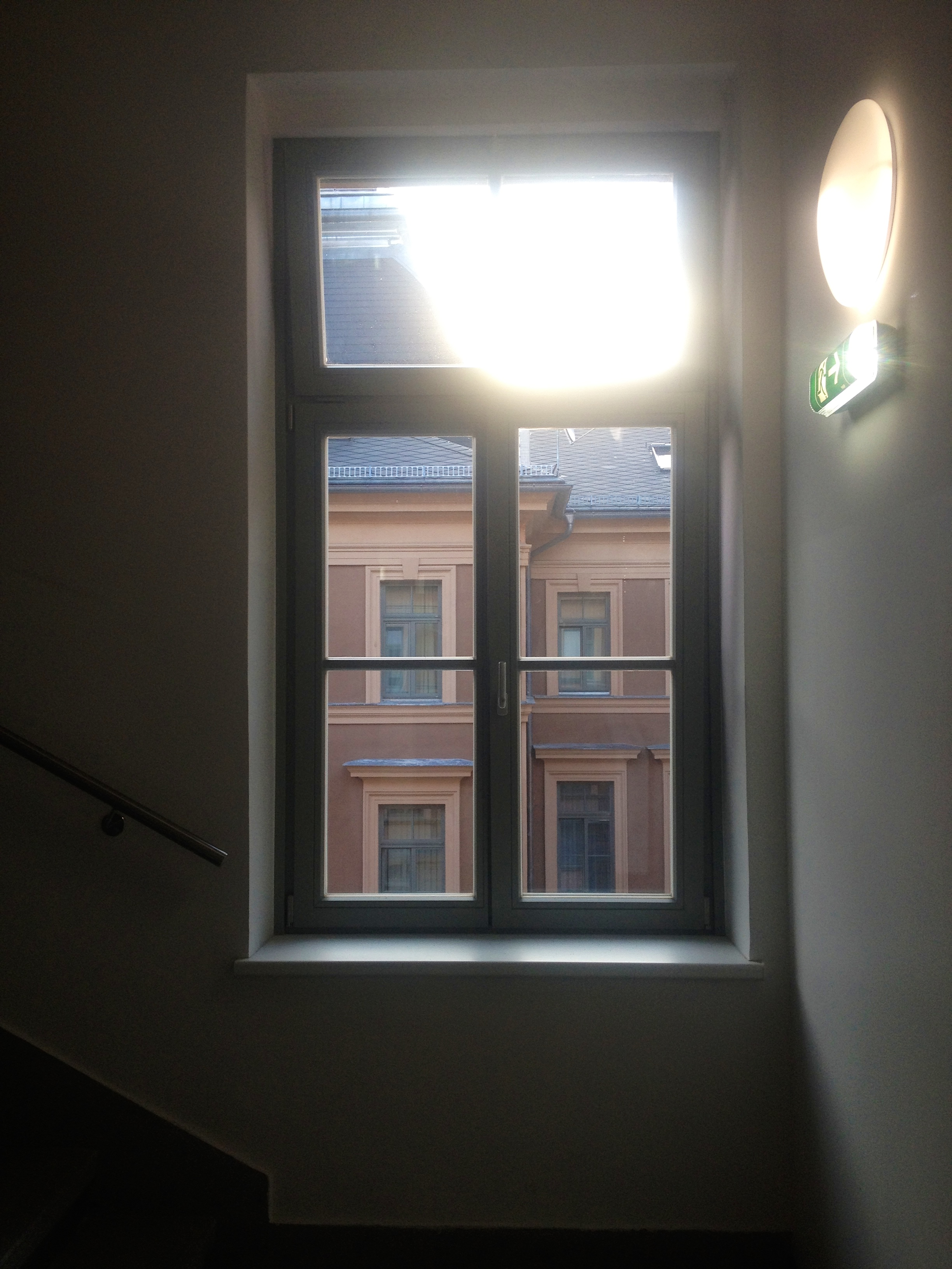 The Tuesday sunrise through the window of the Heim