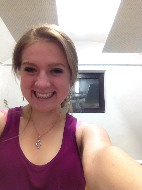 Practice room selfie.