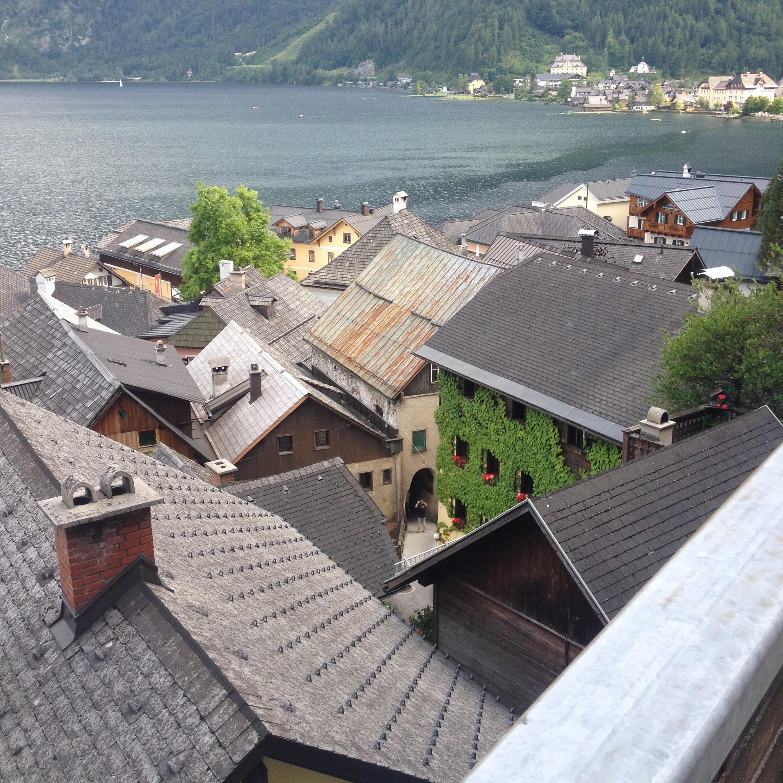 Rooftop view of Hallstatt