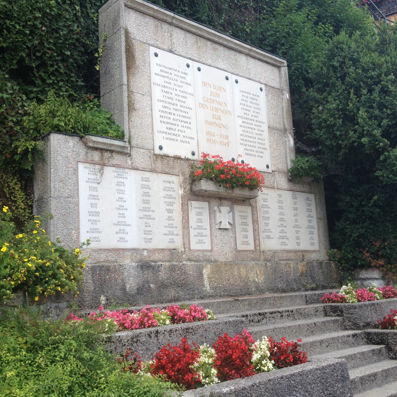 The World War II memorial in Hallstatt