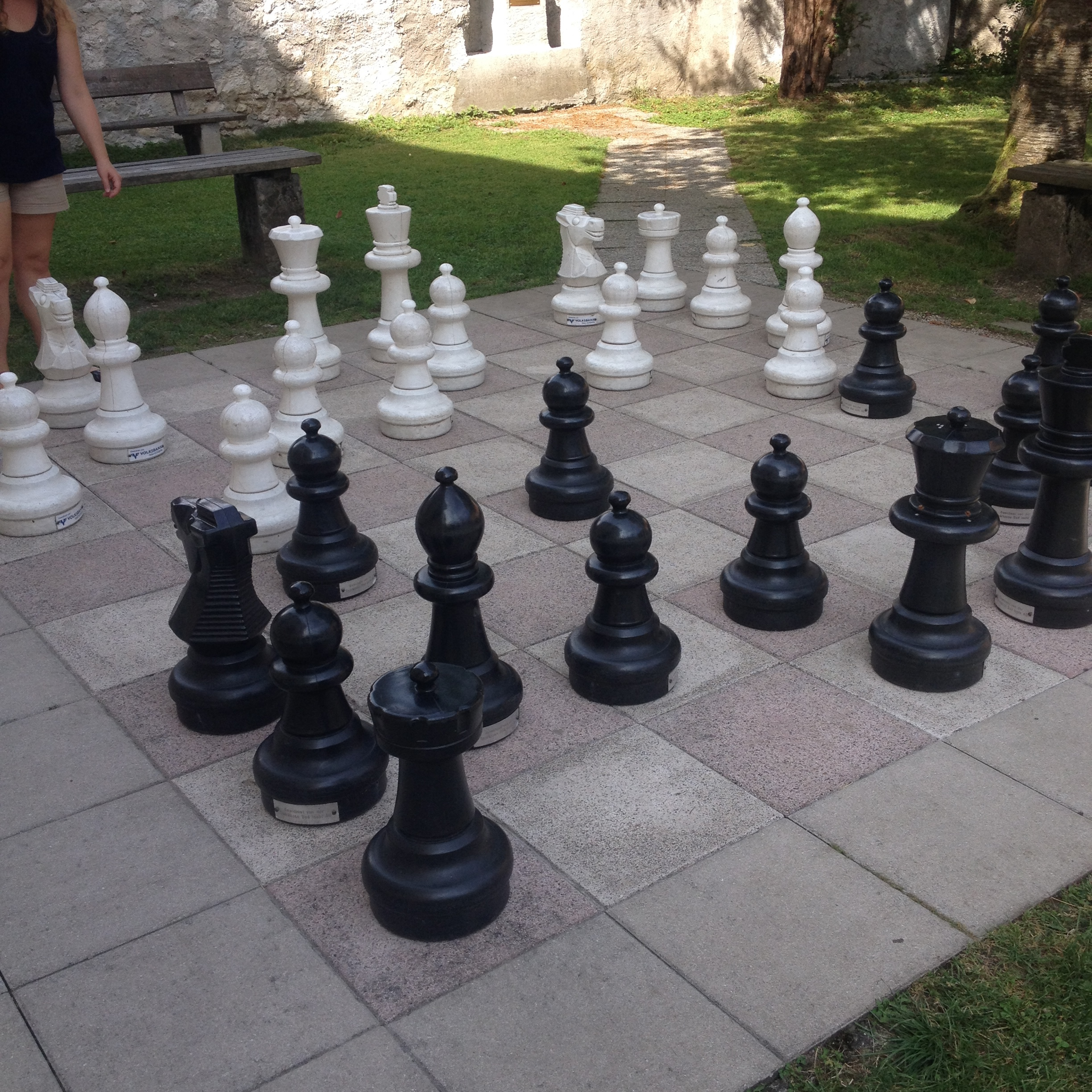 This giant chess set reminded us of Harry Potter.