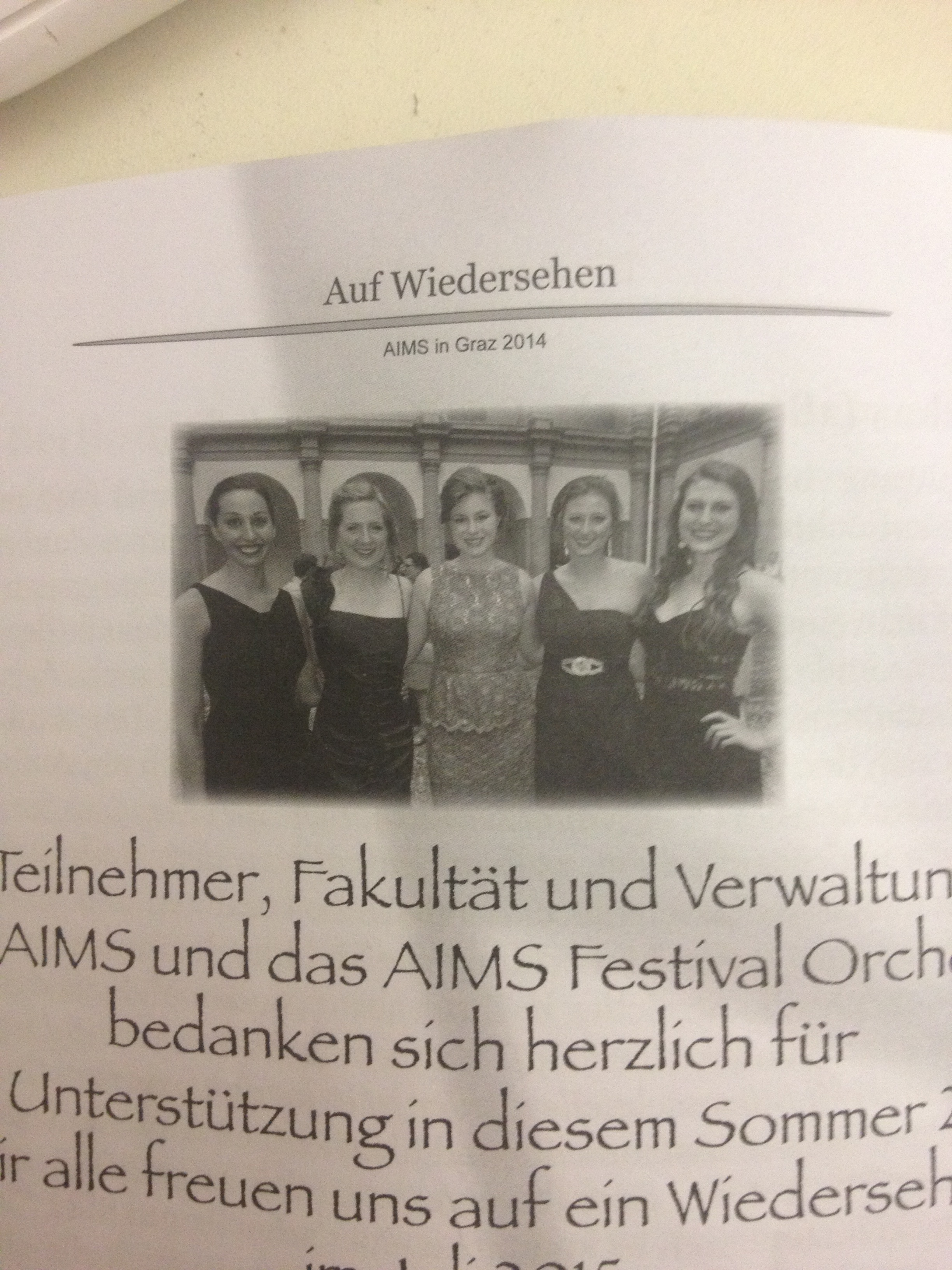 We were on the back of the Meistersinger program. No big deal.