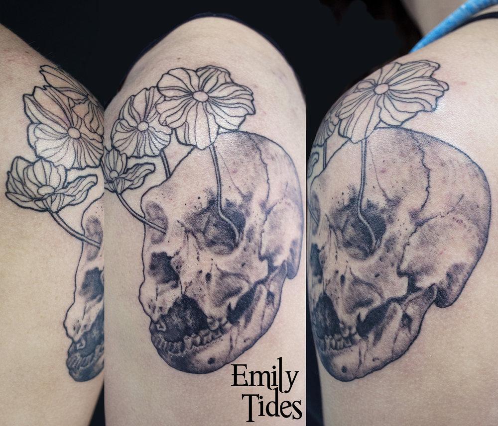 Norman Neanderthal skull tattoo emily tides.jpg