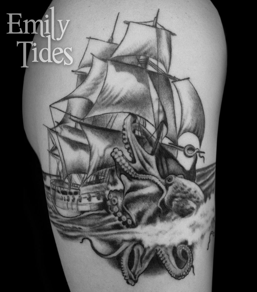 Octopus Ship Tattoo  single emily tides.jpg