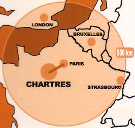 Image : carte de situation de Chartres.
