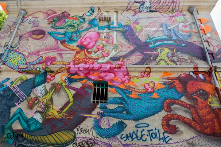Paris- Parcours street art sur le Canal de l'Ourq