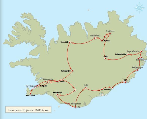 Islande-J1: Départ pour Reykjavik