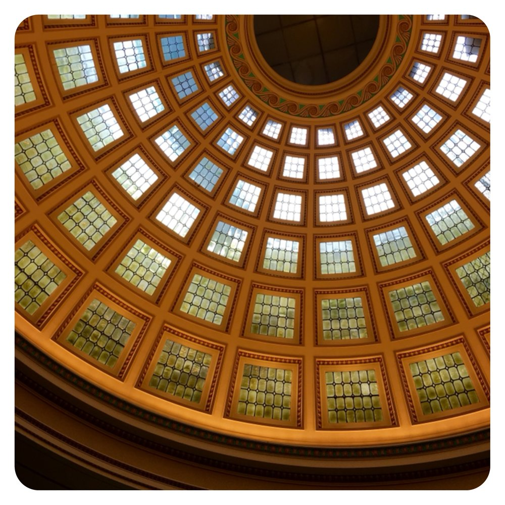 The view from underneath the dome of Nottingham Council House in Old Market Square. Photo credit - me!