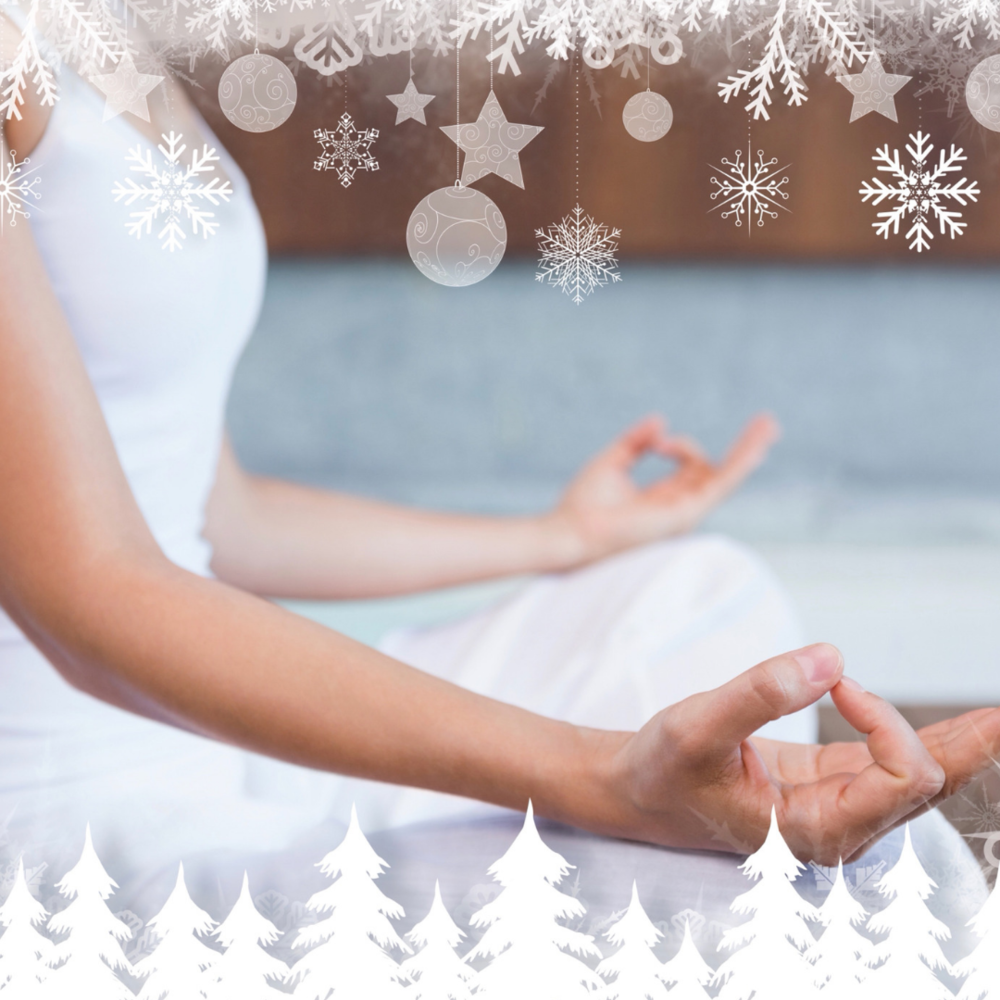 yoga for relaxation at Christmas