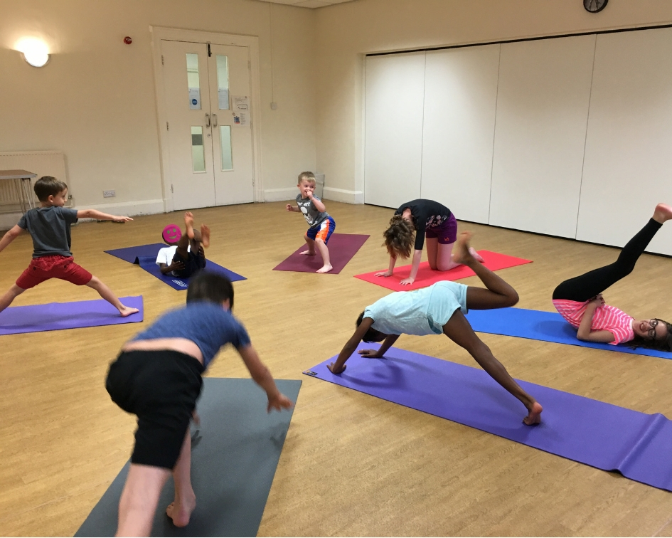 Children's yoga in Hucknall Nottingham for fitness, relaxation and fun