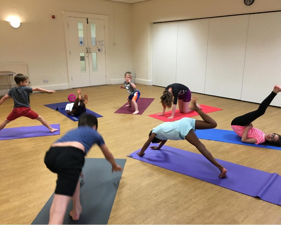 Children's yoga in Hucknall Nottingham for fitness, relaxation and fun