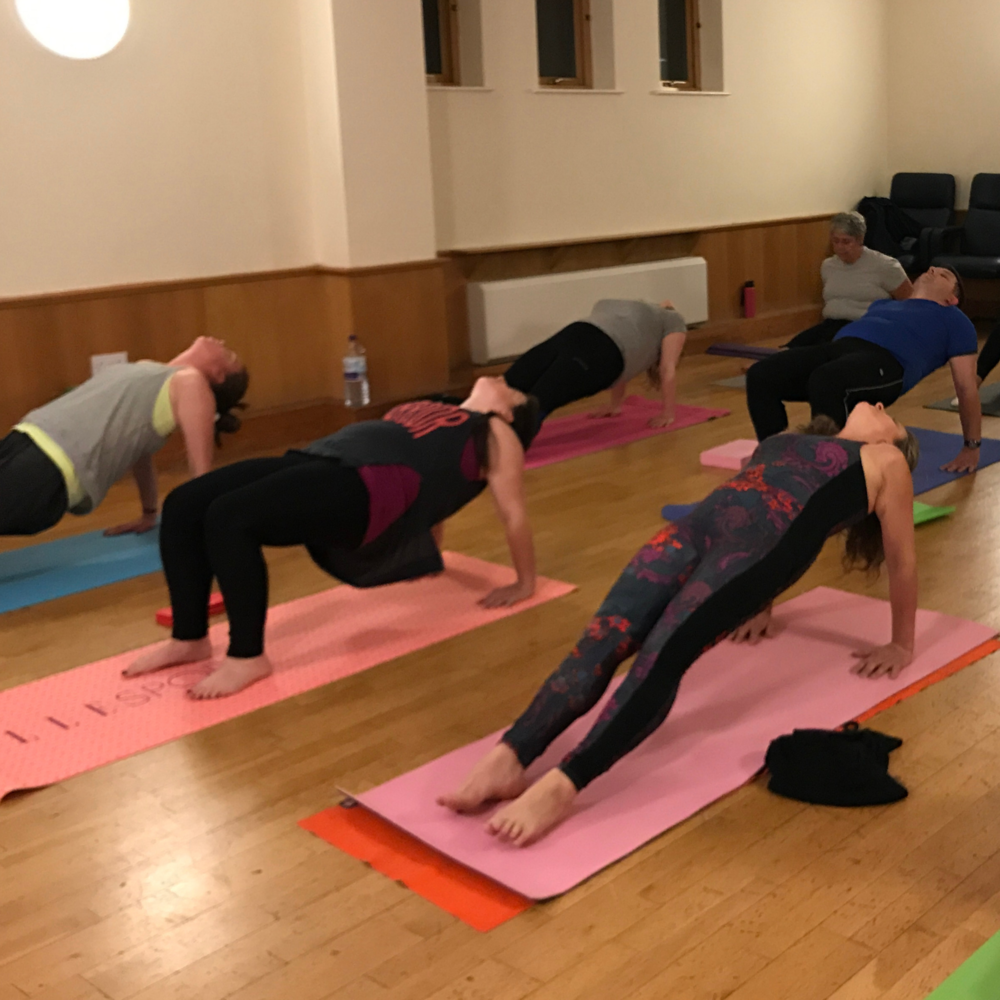 Bringing the focus to the breath during challenging yoga poses