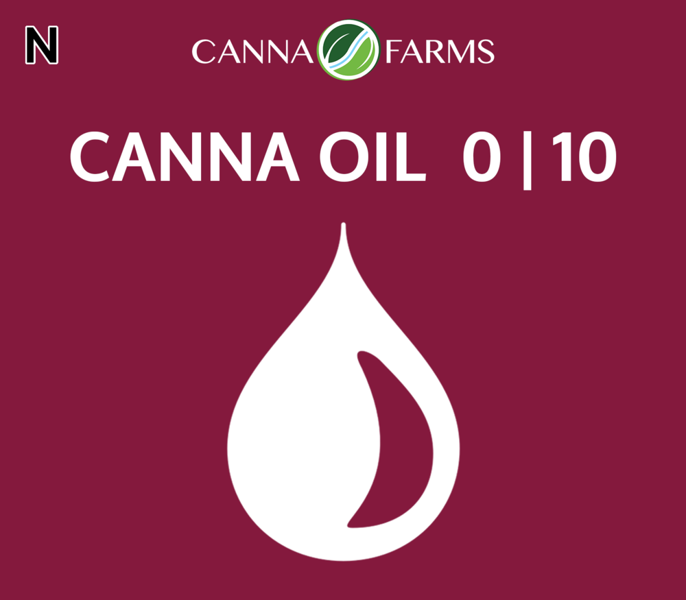 CANNA OIL  0 | 10   - TEMPORARILY OUT OF STOCK -   25 mL Bottles = $60 | 50 mL Bottles = $110