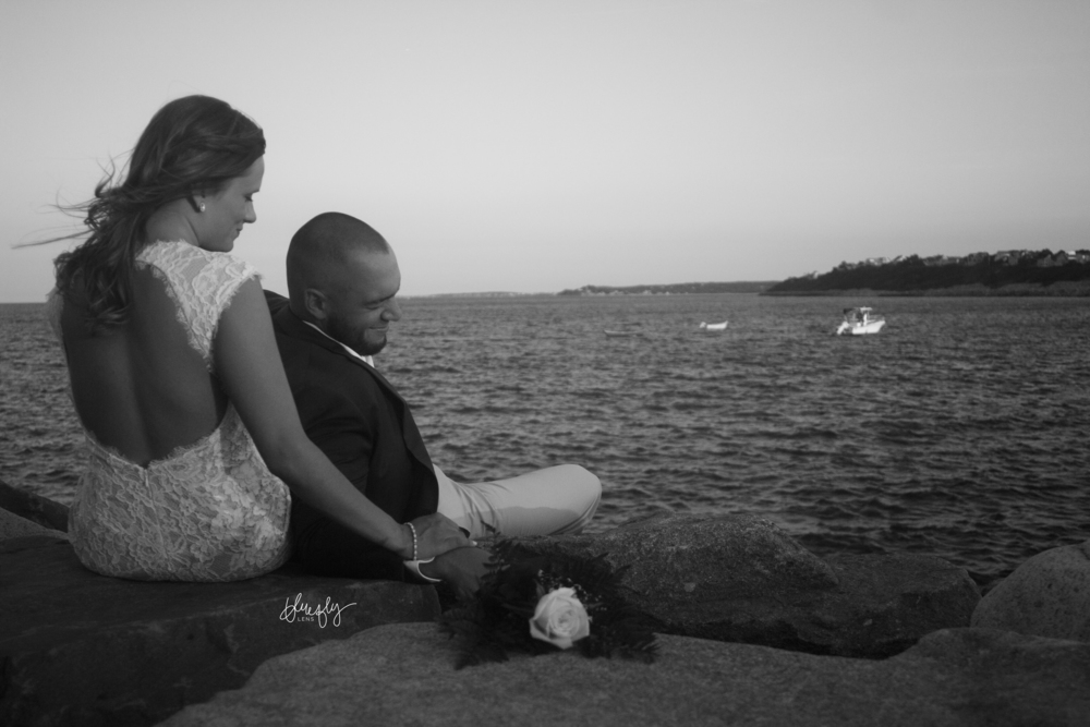 Massachusetts Wedding Engagement Photographer Black and White Bluefly Lens