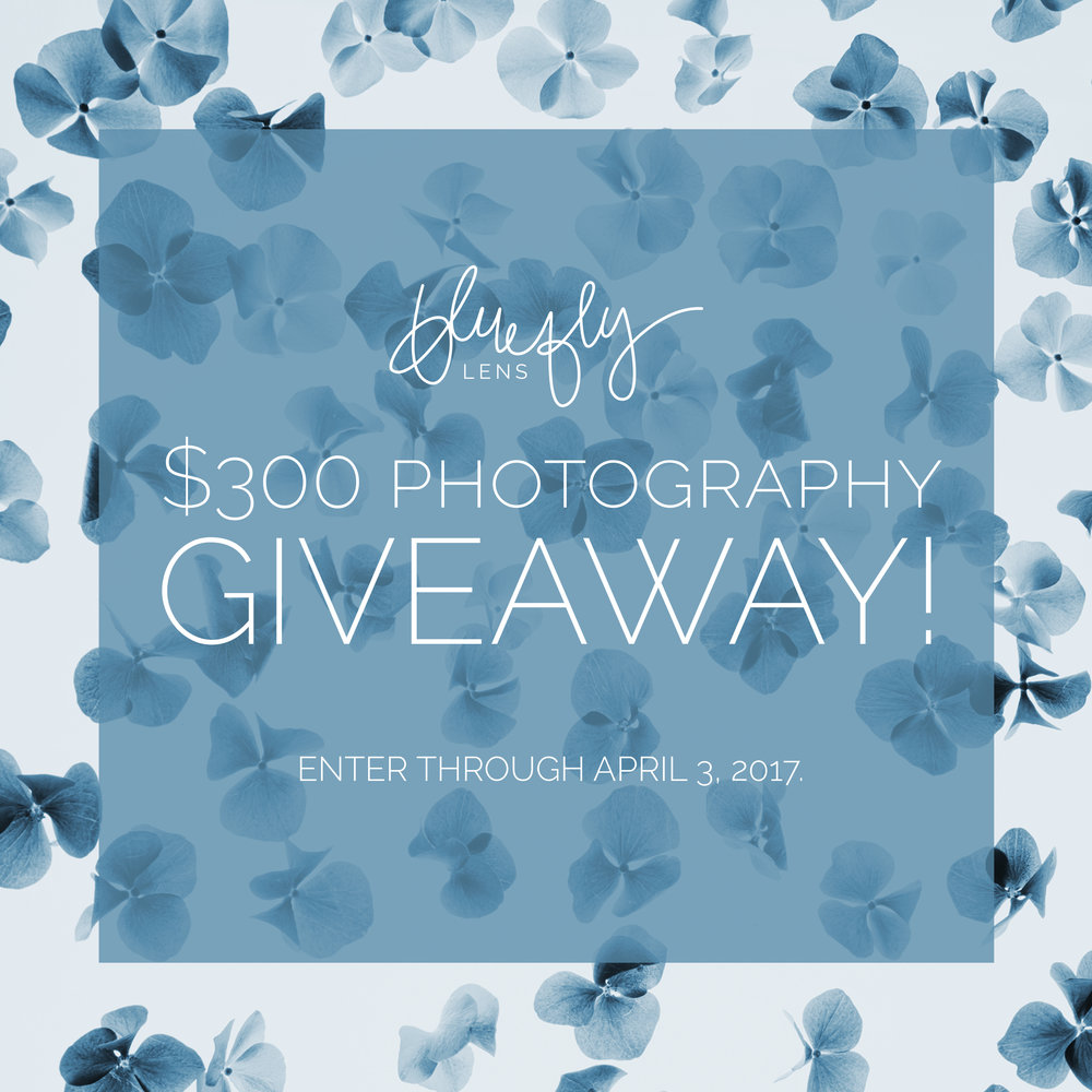 Find this post on our Facebook page (or Instagram) for full information on entering to win $300 to Bluefly Lens! Good luck. We can't wait to work with you in the future!