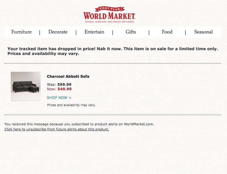 Price Alert Example
