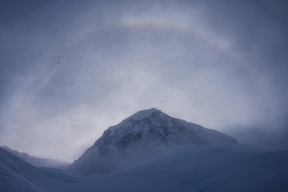 Snowstorm at camp 2 @11,200'.