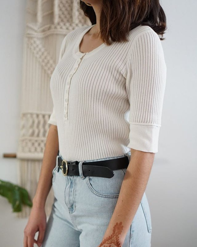 Ribbed basic. Just ☝🏼 on shopmodernation.com