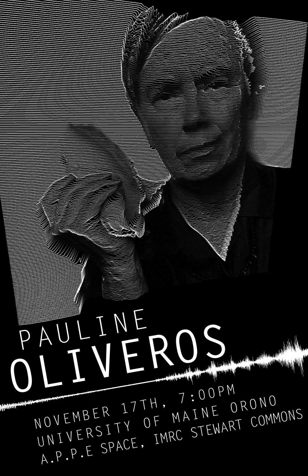 Pauline Oliveros Talk Publicity