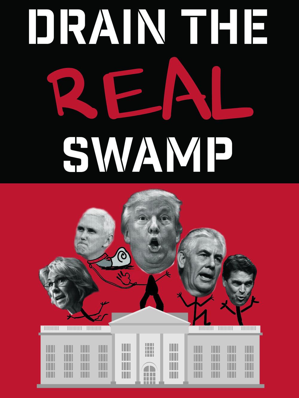 Turn Cheeto Benito's propaganda back on itself and   Drain the Real Swamp!