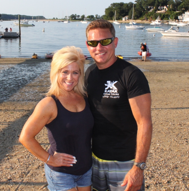 Theresa and Joe after taping of show in Huntington Harbor!