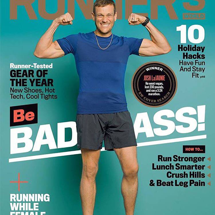 Josh on the cover of Runners World