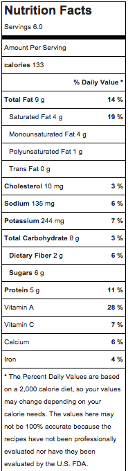 *All nutrition information is approximate