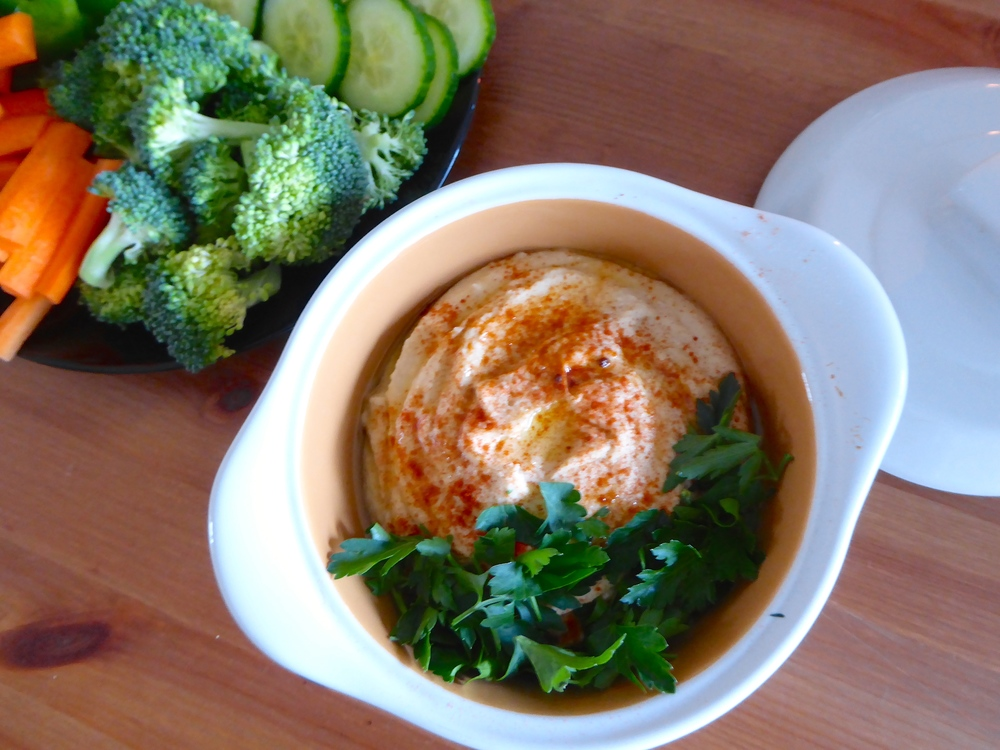 Serve your hummus with cut up veggies instead of chips