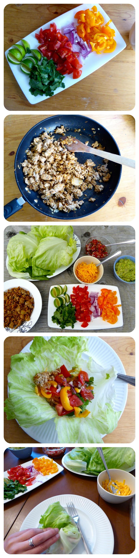Turkey Taco wraps steps