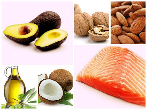 Olive oil, avocado, salmon, and most nuts are high in unsaturated fats, while coconut oil, butter, and many fats from animal sources are high in saturated fats.
