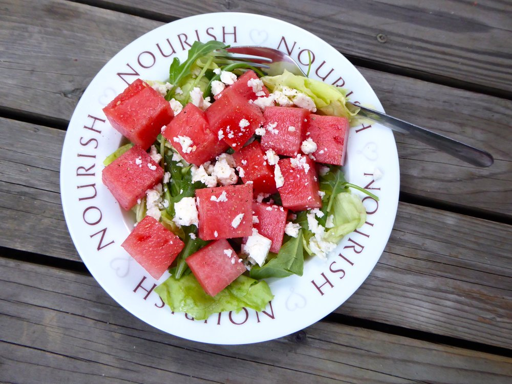 Watermelon, Arugula & Feta Salad 1