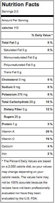 Mango soft serve nutrition